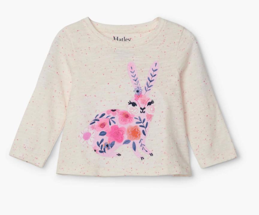 Embellished Bunny Long Sleeve Tee