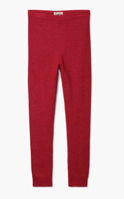 Red Shimmer Cable Knit Leggings