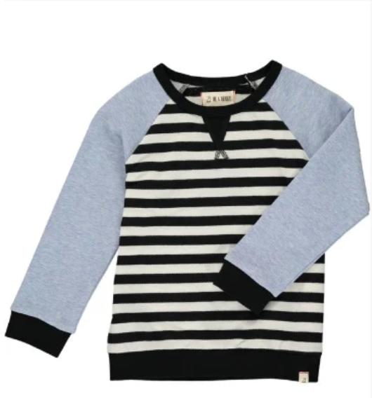 black & white stripe raglan sweatshirt