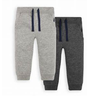Grey fleece pull-ons - 12-18mos