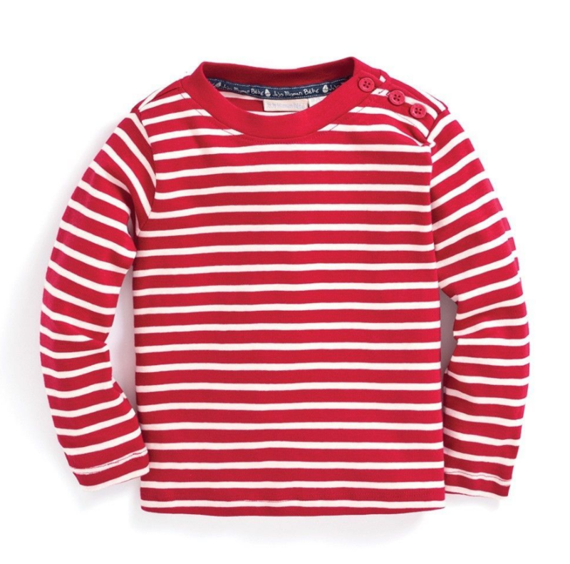 Jojo red stripe L/S tee