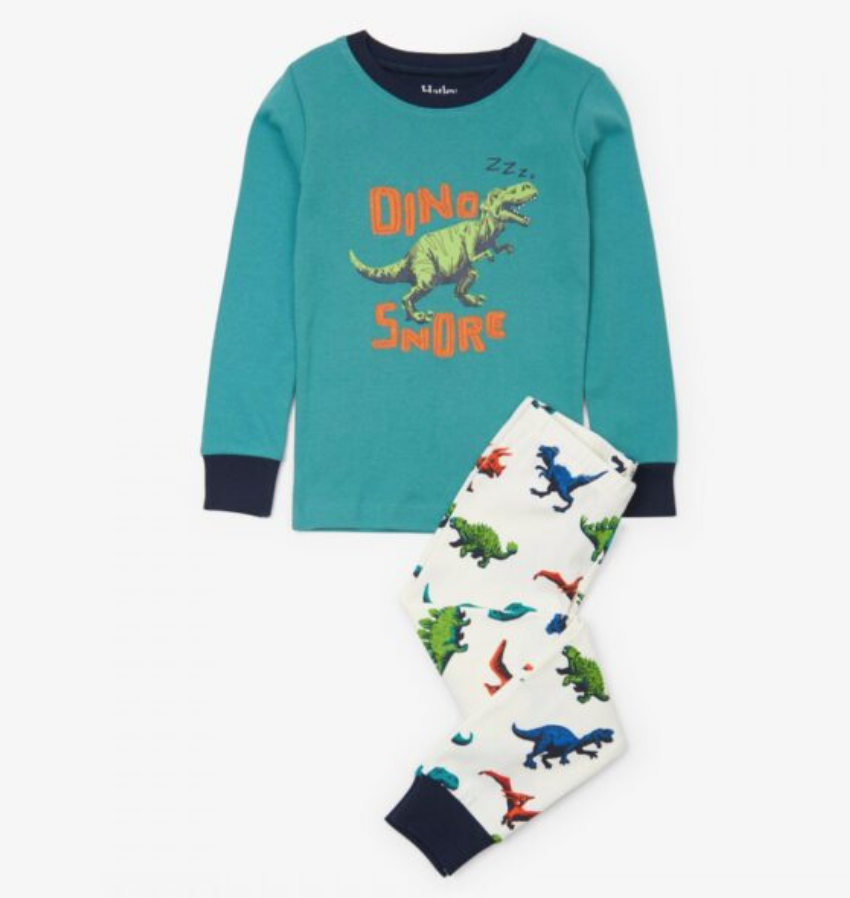Dino Herd Organic Cotton Applique Pjs Set 2