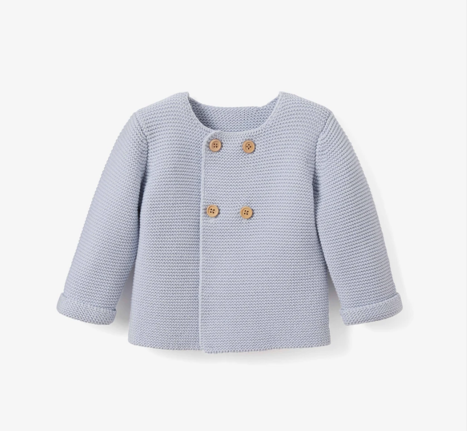 Double breasted cardigan blue 12 mos.