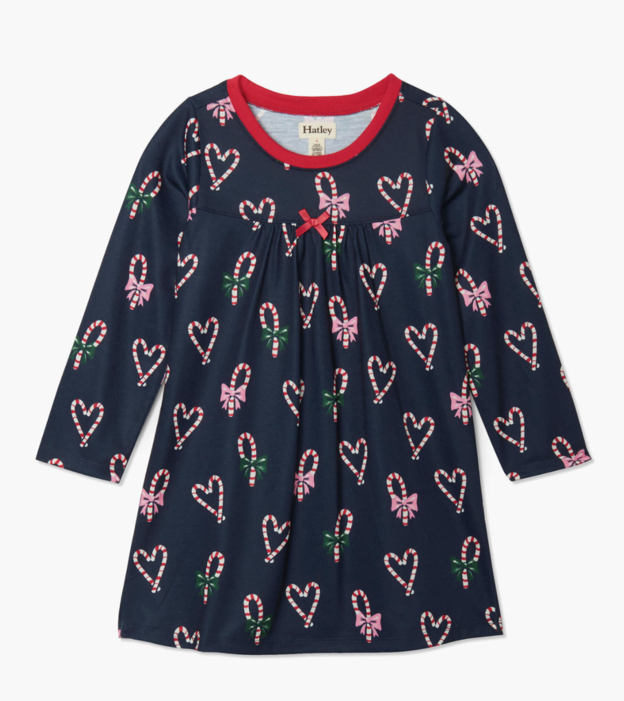 candy cane hearts l/s nightdress