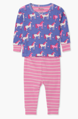 hearts and horses pajama set