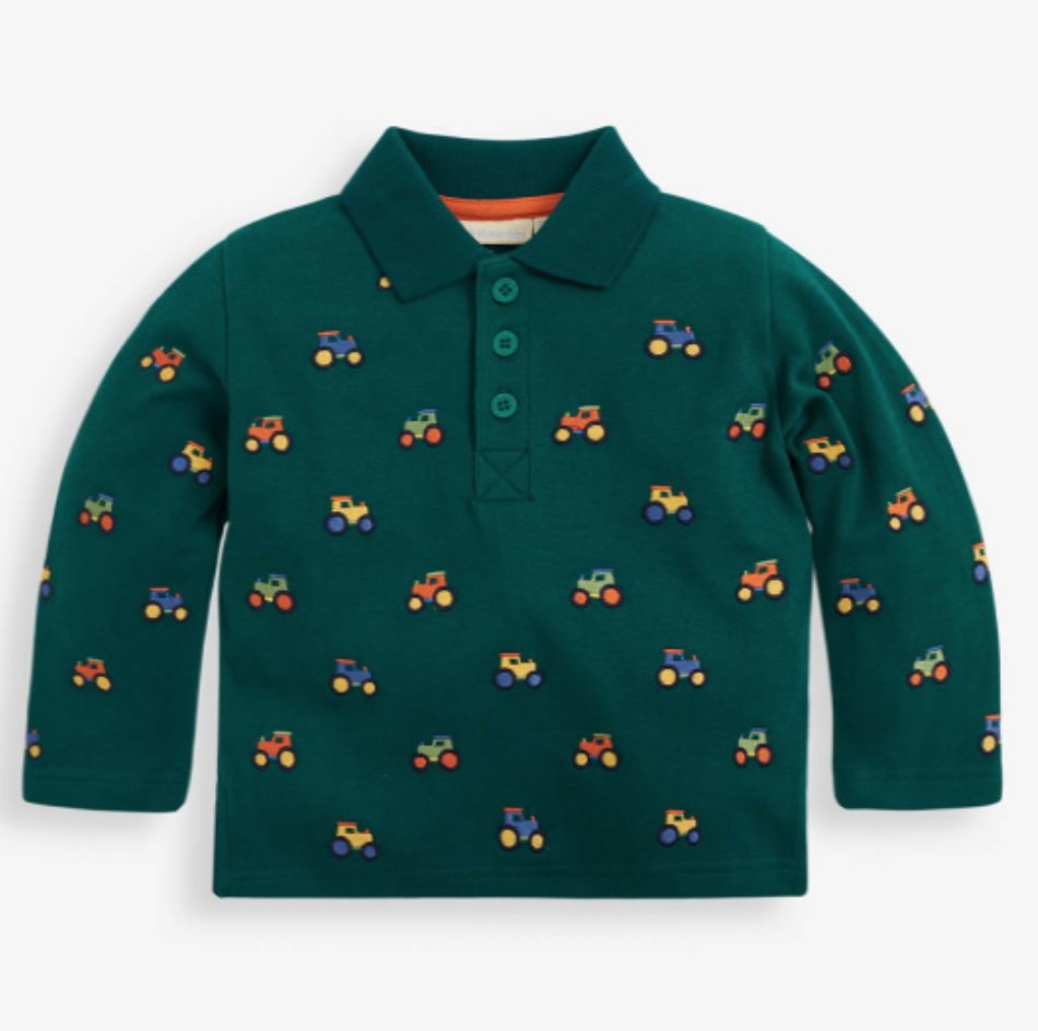 Jojo embroidered tractor L/S polo