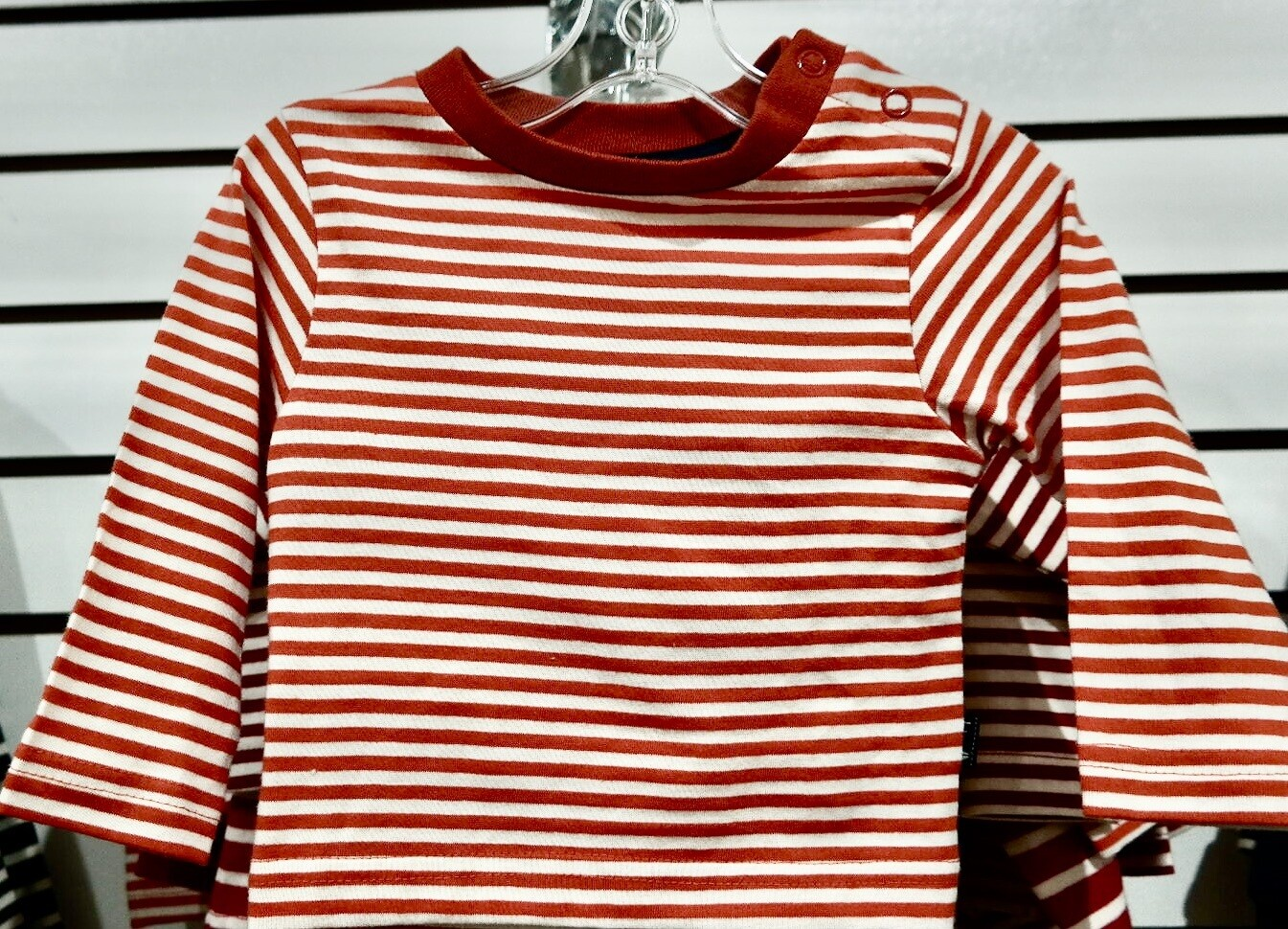 Jojo infant pumpkin stripe L/S tee