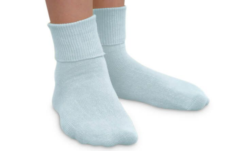 jeffries kids socks - light blue 9-1