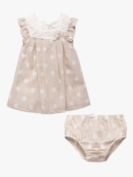 Polka Dot Dress Linen