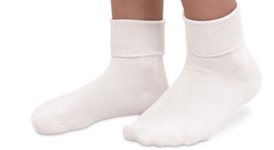 jeffries kids socks - white 12-6 1/2