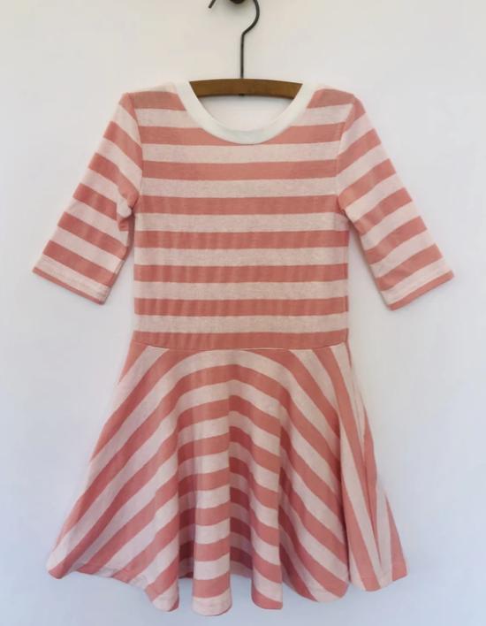 V061-C Blush Short Sleeved Dress - 10