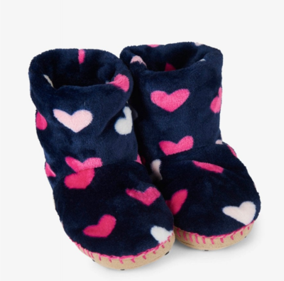 Lovely hearts fleece slippers md