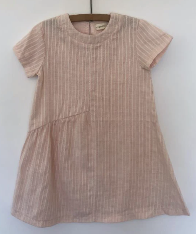 V027-A Blush Short Sleeved Dress - 6