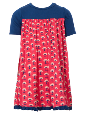 Short Sleeve Swing Dress Red Ginger mini trees 3t