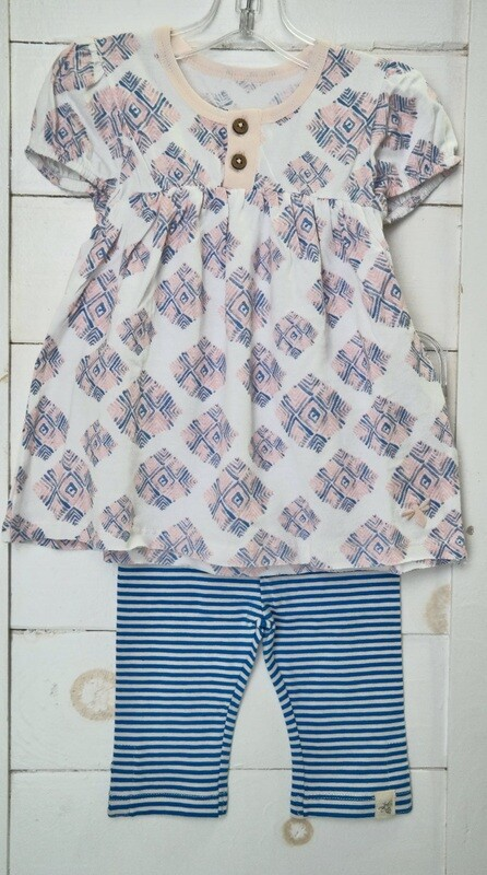 Watercolor Arrow Tiles Tunic and Capri Set