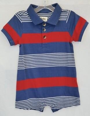 Navy Stripes Baby Romper