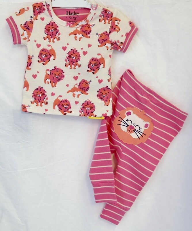 Little cubs organic short sleeve pj set