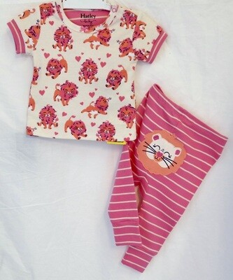 Little cubs organic short sleeve pj set