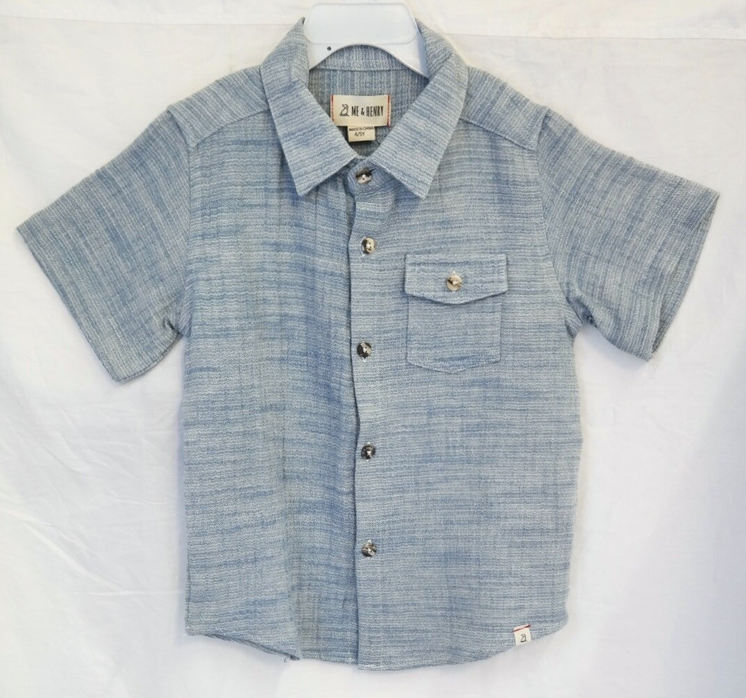 Blue Gauze s/s button down shirt