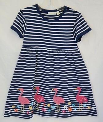 Flamingo Applique Dress 3/4