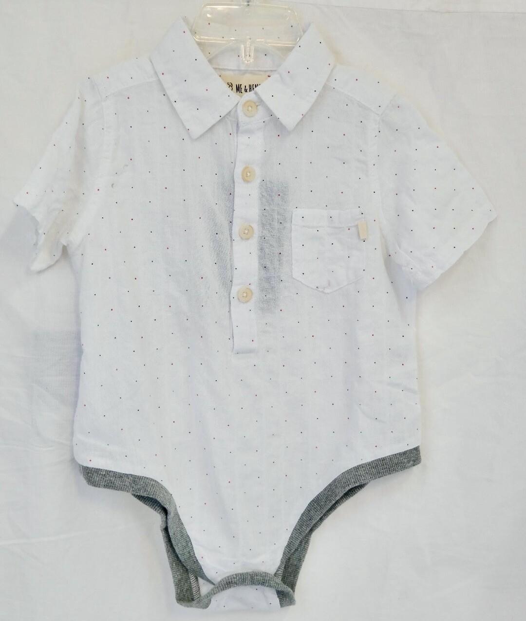 White micro dot woven bodysuit