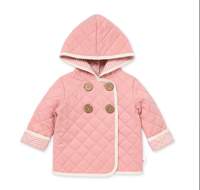 Quilted coat rose quartz