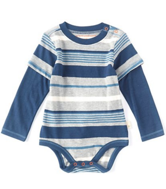 Multi stripe bodysuit huckleberry