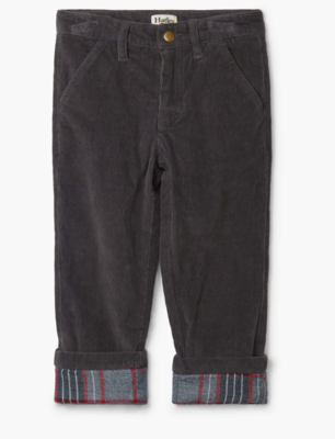 grey stretch cord pants