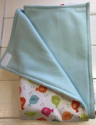 Pitt Patt Blanket 10C-Bird/Pale Blue
