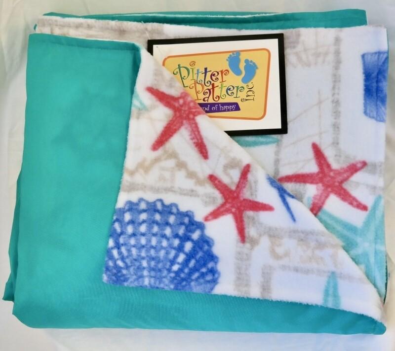 Pitt Patt Blanket 10F- Aqua/Starfish