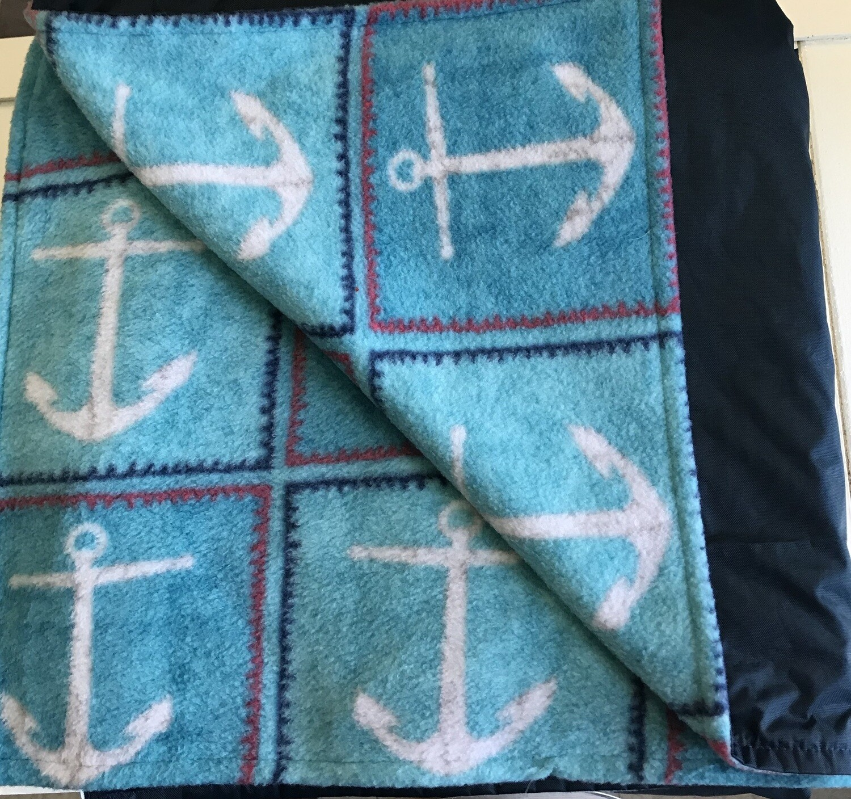 Pitt Patt Blanket 11F- Navy/Anchors