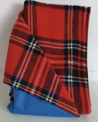 Maine River Otter Blanket 11C-Royal/Red&Black Plaid