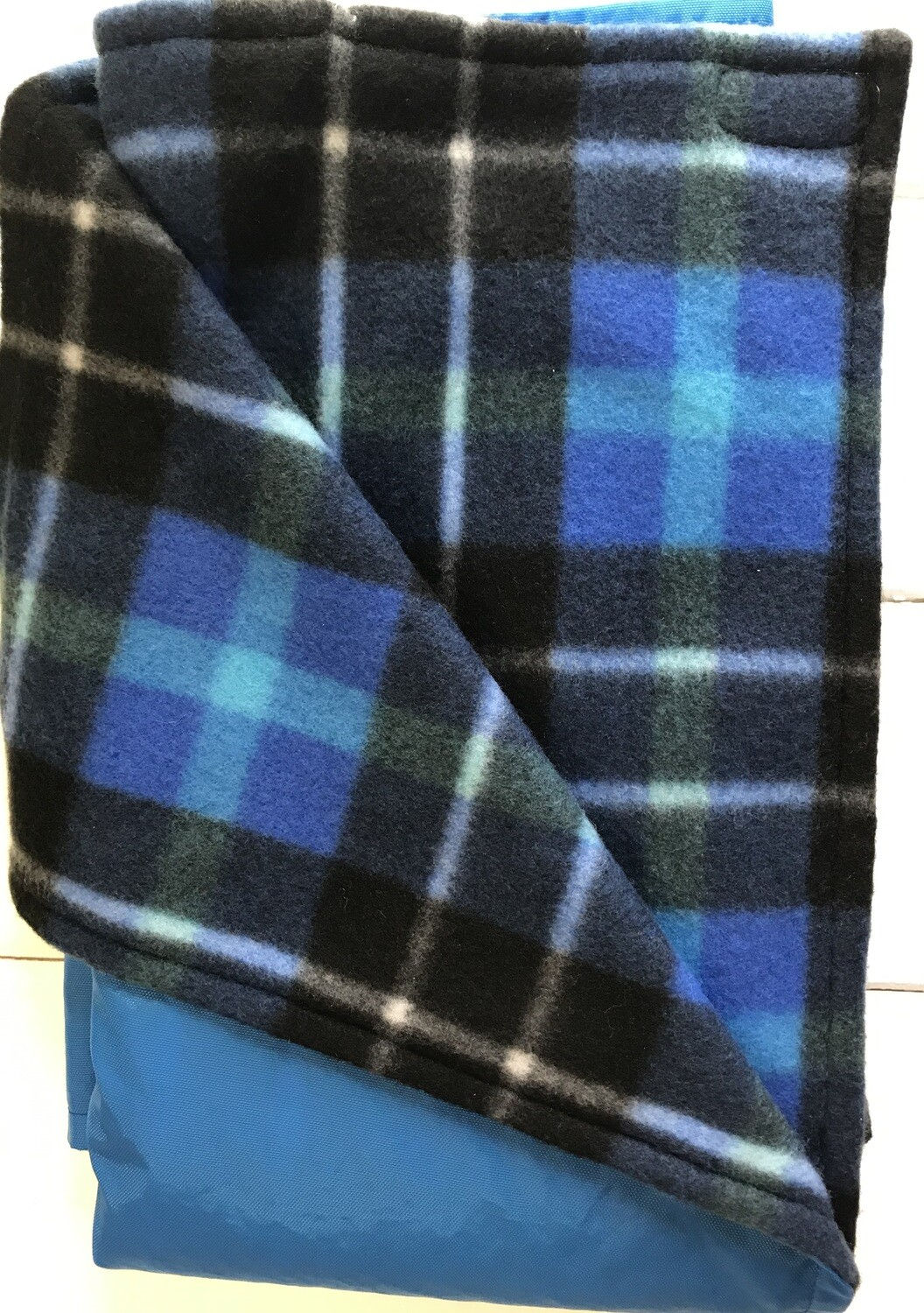 Pitt Patt Blanket 14C-Royal/Black and Blue Plaid