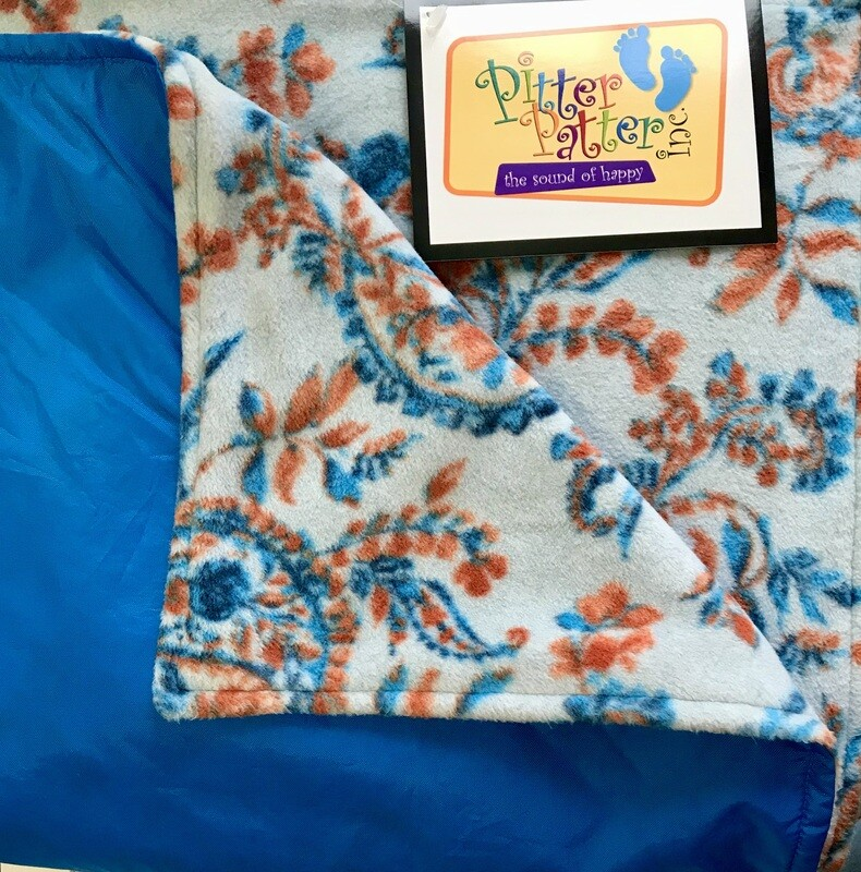 Pitt Patt Blanket 13F- Royal/Autumn Paisley