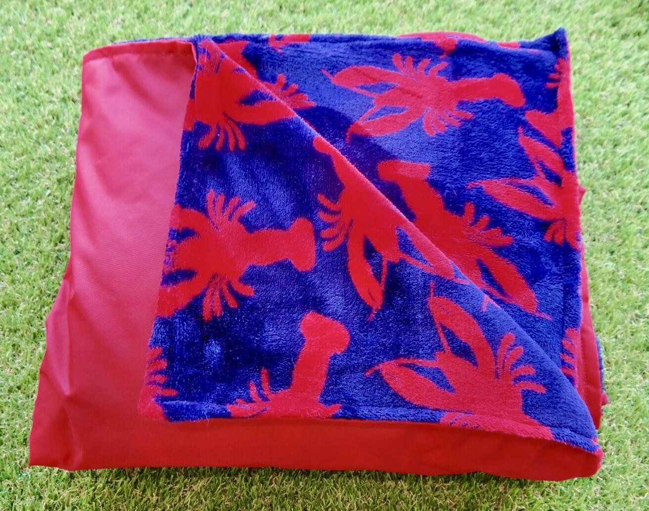 Pitt Patt Blanket 1F- Red/Lobster