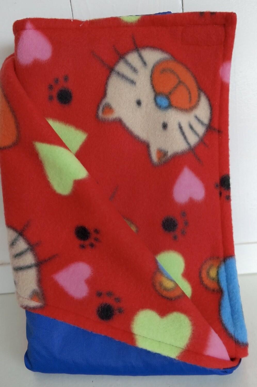 Pitt Patt Blanket 26C-Blue/Red Kitty