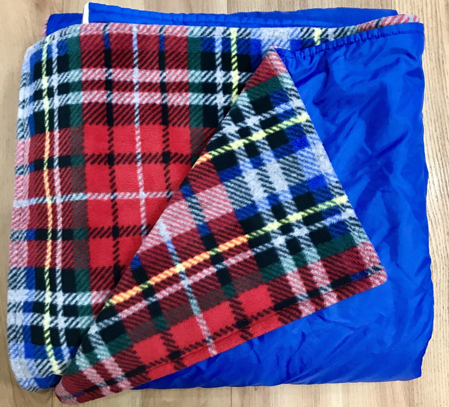 Pitt Patt Blanket 3F- Blue/Red Plaid