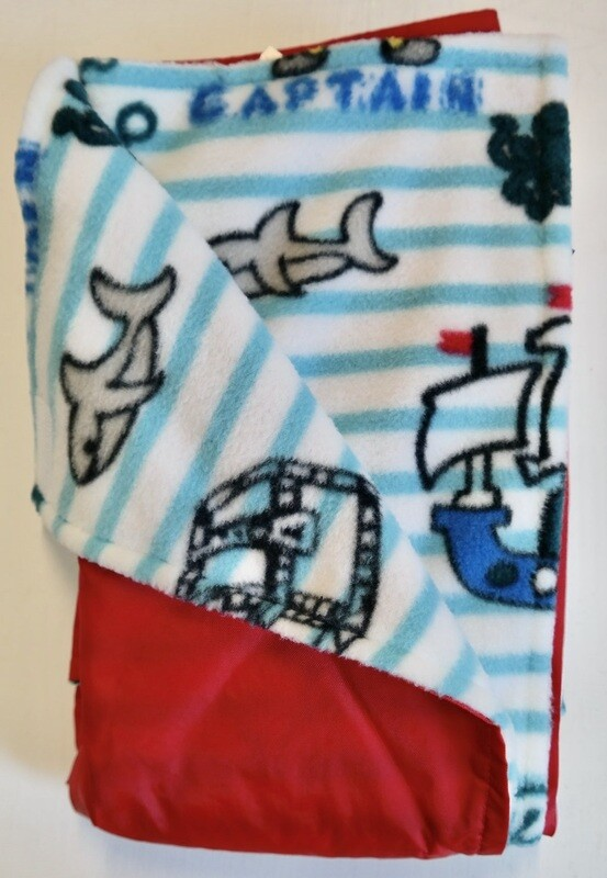 Pitt Patt Blanket 28C-Red/Pirate Stripe