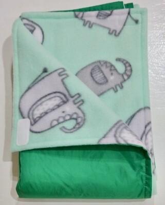 Pitt Patt Blanket 34C- Bright Green/Elephant