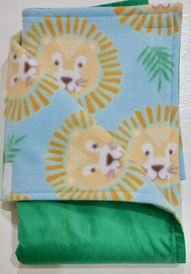 Pitt Patt Blanket 37C- Bright Green/Lions
