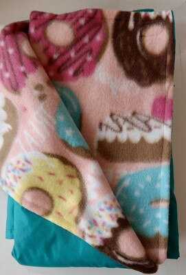 Pitt Patt Blanket 22C-Aqua/Pink Donut