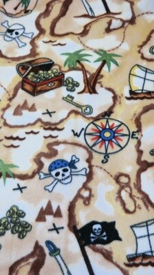Maine River Otter Blanket 30C-Red/Treasure Map