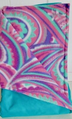 Pitt Patt Blanket 41C- Teal/Paisley