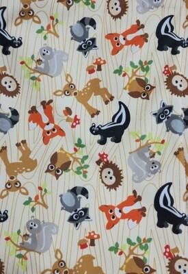 Pitt Patt Blanket 32C- Forest Creatures/Brown