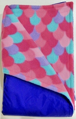 Maine River Otter Blanket 39C- Purple/Scales