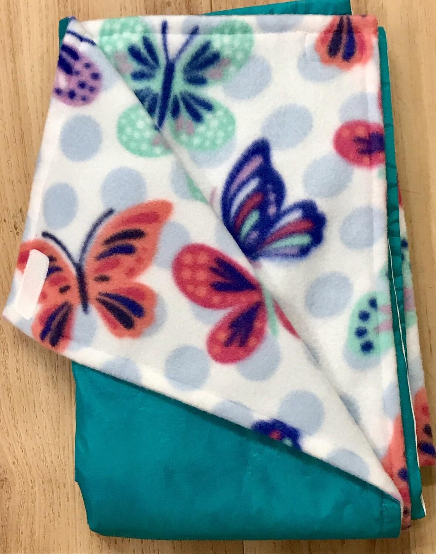 Pitt Patt Blanket 42C- Aqua/Butterfly