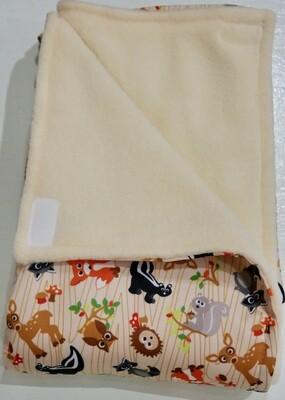 Pitt Patt Blanket 31C- Forest Creatures/Cream