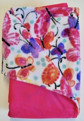 Maine River Otter Blanket 46C-Pink/Lux Butterfly