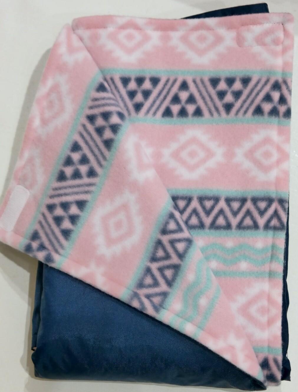 Pitt Patt Blanket 50C-Navy/Geometric Stripe