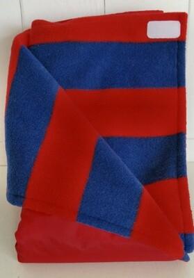 Maine River Otter Blanket 54C-Red/Red&Navy Stripe